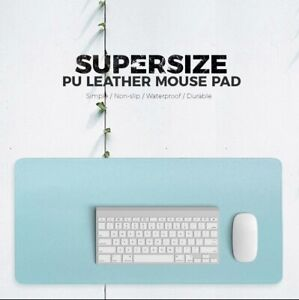 Double-sided Portable Large Mouse Pad Gamer Waterproof PU Leather Suede Desk Mat