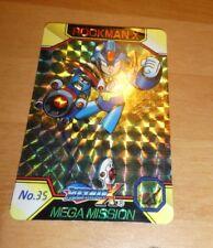 ROCKMAN X MEGAMAN CARD PRISM HOLO CARTE NO.35 MADE IN JAPAN 1995 BANDAI **