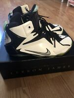 Nike Lebron James XII 12 All Star Youth White/MultiColor-Black Sz 6y,
