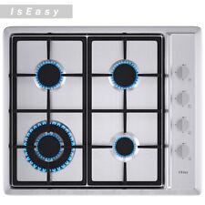 """IsEasy 24"""" Gas Cooktop in Stainless Steel, 4 Burners, Built-in, Lpg/Ng Gas Hob"""