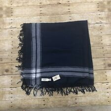 Abercrombie & Fitch Womens One Size Cotton Blue White Scarf New