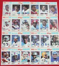 1982 KELLOGG'S FOOTBALL COMPLETE MINT SET
