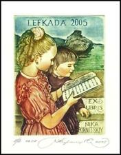 Kirnitskiy Sergey 2005 Exlibris C4 Children with a Book 112