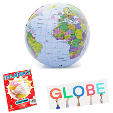 Inflatable Globe 40 cm Blow up World Map Earth Education Toy for kids