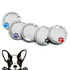Swarovski Crystal Engraved ID Tags Pet Tags DOG Disc Free P&P