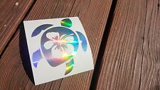 Hibiscus Flower Turtle Vinyl Decal, Sticker, Sea Life, Ocean, Vacation, Florida