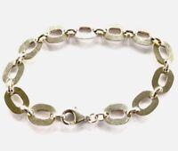 Vintage Sterling Silver Oval Linked Bracelet 19.5cm Long GIFT BOXED