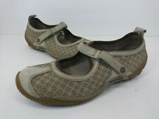 Merrell Circuit MJ Taupe Print Suede Mary Jane Loafers Shoes Women's Size 7.5