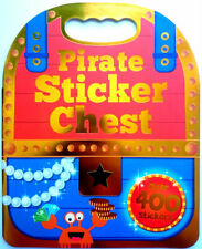 Pirate Sticker Chest over 400 STICKERS Activity Book Kids Fun Travel Creative