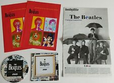 THE BEATLES LOT OF 5 RARE FRENCH PROMO MAGAZINES AND CARDBOARD DISPLAYS