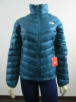 Womens The North Face TNF Flare Full Zip 550-Down Winter Packable Jacket - Coral
