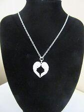 Collar Colgante de Corazón de Plata Alas De Ángel