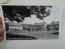 RARE Real Photo Postcard MALT HOUSE ESTATE, ASHOVER Pub. A W Bourne  §A1387