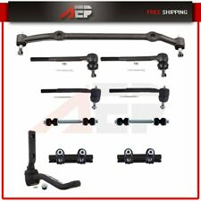 All 10 Pieces Front Outer Inner Tie Rod Ends Sway Bar End Links Suspension Kit