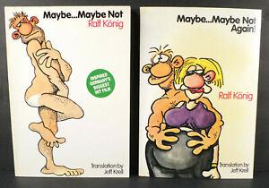 2 Ralf Konig: Maybe... Maybe Not; Again! 1st English Ed. König Gay German Comics