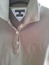 Poloshirt TOMMY HILFIGER Damen Kurzarm Slim Fit Grau Gr. S
