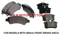 FOR PEUGEOT 307 1.4 1.6 2.0 HDi 16v (01-08) FRONT and REAR BRAKE PADS SET NEW