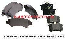 PEUGEOT 307 1.4 1.6 2.0 HDi 16v (01-08) FRONT and REAR BRAKE DISC PADS SET