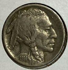 1914 S Very Fine VF Buffalo US Nickel 5C