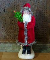 "RAGON HOUSE 8"" DEEP RED VELVET BELSNICKLE ~ GERMAN CHRISTMAS PAST!"