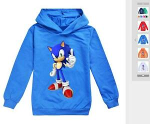 Sonic The Hedgehog Unisex boys Kids Girls Long Cotton Sleeved Sweater clothes