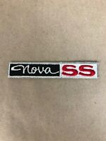 Vtg Chevrolet Nova SS Embroidered Sew On Patch Auto Racing Badge Chevy Hot Rod