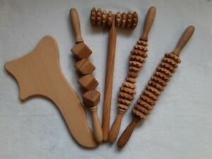 Wooden Anti celulite set for Maderotherapy (New)