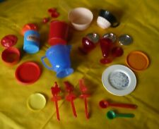 New ListingVintage Pretend Play Child's Kitchen Plastic Dishes Molds Other Items Lot of 25+