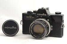 @ Ship in 24 Hrs @ Rare Black @ Minolta SRT 101 Film SLR Camera Rokkor 55mm f1.7