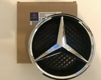 Mercedes Chrome Silver Front Grille Star Badge A C GLA CLA ML CLS E Class + Base