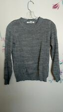 Forever 21 metallic gray long sleeve pullover sweater, size small
