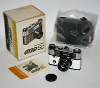 """EXC! COLLECTIBLE! WHITE BODY RUSSIAN USSR """"FED 5s"""" camera, FULL SET"""