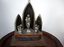 Selten Haus Altar mit integrierter Spieluhr ca 1953 Devotionalie