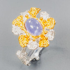 Tanzanite Ring Silver 925 Sterling Handmade  Jewelry Size 6.5 /R143413