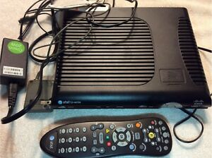 Cisco ISB7005 AT&T U-Verse TV Receiver Box with Power Cord AND Remote! WORKING
