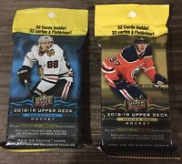 2018/19 Upper Deck Hockey Series 1 & 2 Factory Sealed Jumbo Fat Packs W Tins