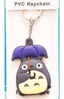 "Totoro With Umbrella Studio Ghibli Keychain Double Sided 2"" US Seller"