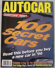 AUTOCAR magazine 10/1/1996 featuring Lotus Elise, Seat Cordoba GT, Hyundai