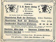 J.U. Kern / Max Müller Breslau  VERLAG * PATIENCEN Historische Reklame von 1905