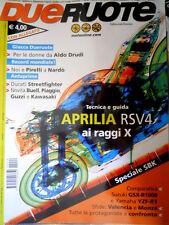 Dueruote 49 2009 Tecnica e guida aprilia RSV 4. Ducati Streetfighter, Buell Q76]