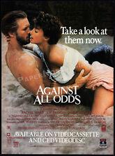 AGAINST ALL ODDS__Original 1985 Print AD movie promo__RACHEL WARD__JEFF BRIDGES
