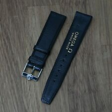 Vintage Omega Leather Band 20 mm With Omega Buckle Excellent Condition NOS