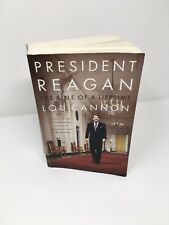 President Reagan The Role of a Lifetime Lou Cannon 1991 Paperback
