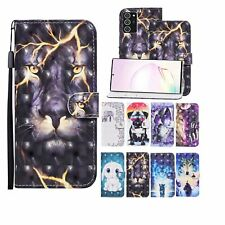 For Various Phone New Luxury 3D Painted Hot Flip Antislip Wallet Cool Case Cover