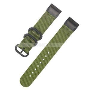 For Garmin Fenix 5 5X 5S Plus Quick Release Nylon Silicone Loop Watch Band Strap