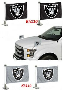 NFL Las Vegas Raiders Car Hood / Trunk Ambassador Flags-Choose Color