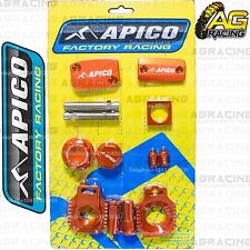 Apico Bling Pack Orange Blocks Caps Plugs Nuts Clamp Cover For KTM XC-W 300 2014