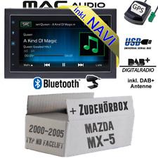 Autoradio für Mazda MX-5 MX5 NB 2-DIN DAB NAVIGATION USB Bluetooth DAB+ Navi Set