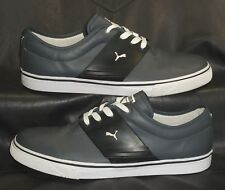 PUMA gray with black trim oxfords lace-ups Mens shoes size US 12