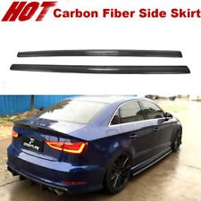 Fits Audi A3 S-LINE S3 2014-2020 Side Skirt body kit Spoiler Carbon Fiber 1Pair